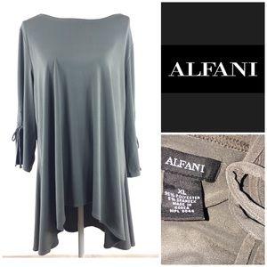 Alfani Stretchy Tunic High Low 1/2 Sleeve Large